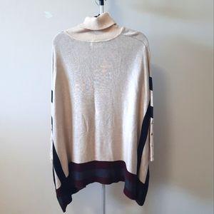 BOGO Free long sleeve, turtleneck, knit sweater poncho